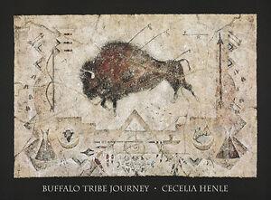 Buffalo-Tribe-Journey-Art-Print-by-Cecilia-Henle