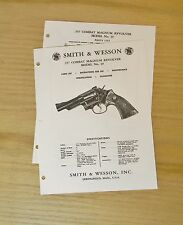 Smith & Wesson  .357 Cal. Combat Magnum Revolver Manual - Model 19 - #SW11
