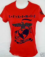 Luxirie By Lrg T- Shirt Love Power Tartan Red 20804