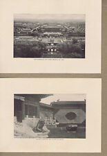 Forbidden City from Hill of Coal-Bronze Guardians- China 1903 Prints