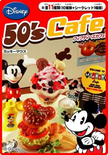 Re-Ment Disney Mickey 50/'s Cafe Cake Tableware Full Set of 10