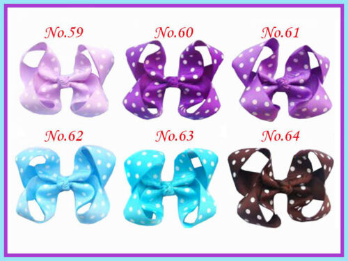 "50 BLESSING Girls Custom 3-3.5/"" Boutique Hair Bow Clip 3 Styles"