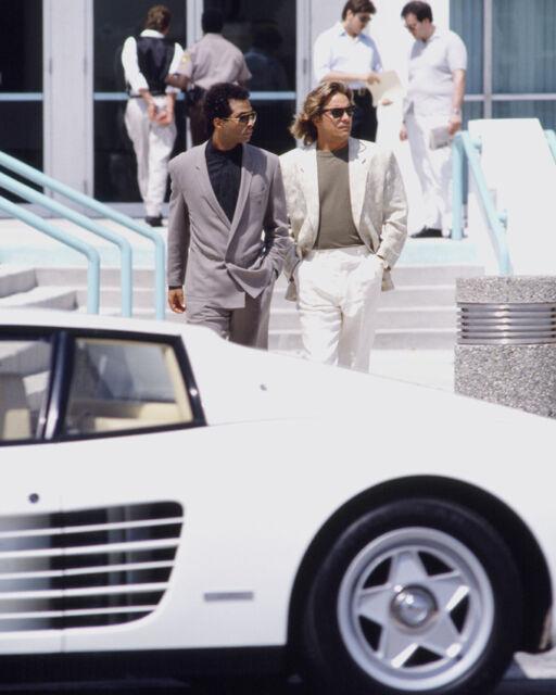 MIAMI VICE JOHNSON & THOMAS BY FERRARI 8X10 COLOR PHOTO