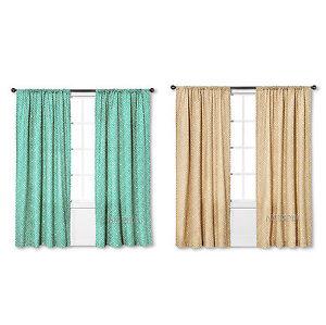Details About New Threshold One Window Treatment Panel Tan Green Greek Key 54 X84 Curtain