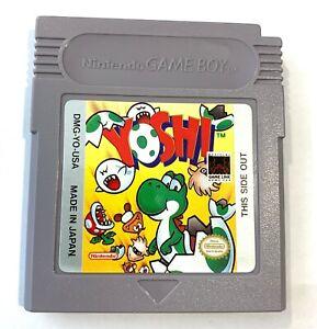 Yoshi-Nintendo-Original-GameBoy-Game-Tested-amp-Working-Authentic