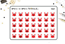 1280~~ Cute Beach Crab Date Covers Planner Stickers.