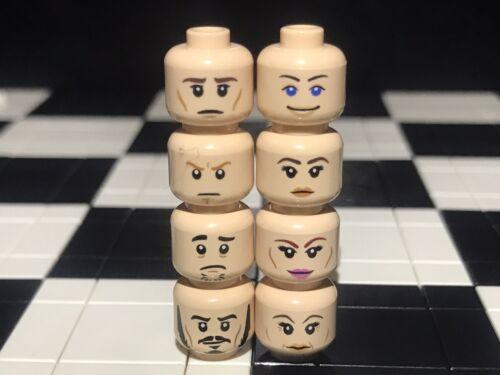 Lego Flesh Male / Female Minifigure Heads With Dual Face X8 Girl / Boy / Set #2