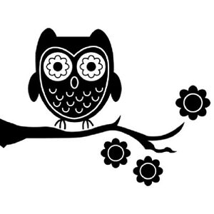 Black Owl Silhouette Canvas Print Painting Wall Art Baby