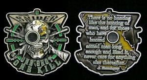 Scout-Sniper-CHALLENGE-COIN-US-ARMY-NAVY-AIR-FORCE-PIN-UP-ONE-SHOT-ONE-KILL-WOW