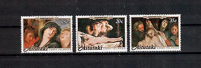 kunst 679 100% Original Professioneller Verkauf Aitutaki Michelnummer 251-253 Postfrisch