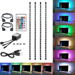 4Pcs-USB-Powered-RGB-5050-LED-Strip-Lighting-for-TV-Computer-Background-Light