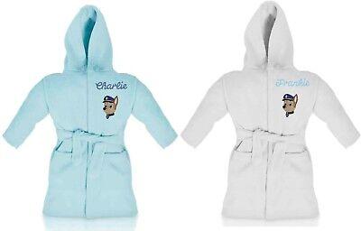 Oh Sew Simple Laa Laa Teletubbies Girls Personalised Fleece Dressing Gown//Bathrobe White