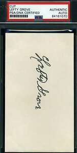 Lefty-Grove-Psa-Dna-Autograph-3x5-Index-Card-Authentic-Hand-Signed