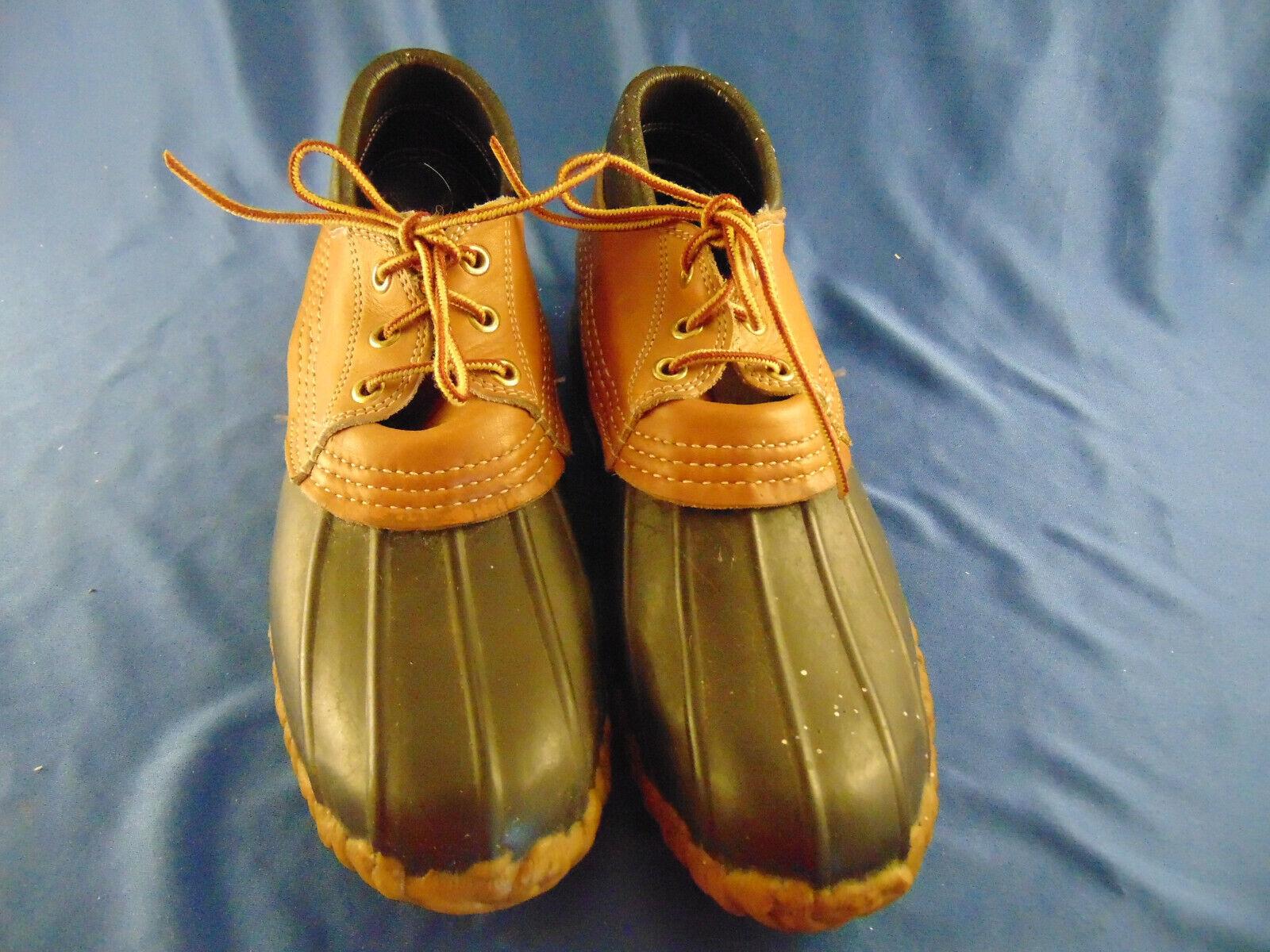 Maine caza de pato Señoras Zapato Bota Talla 8 impermeable hecho Ll Bean USA Laceup