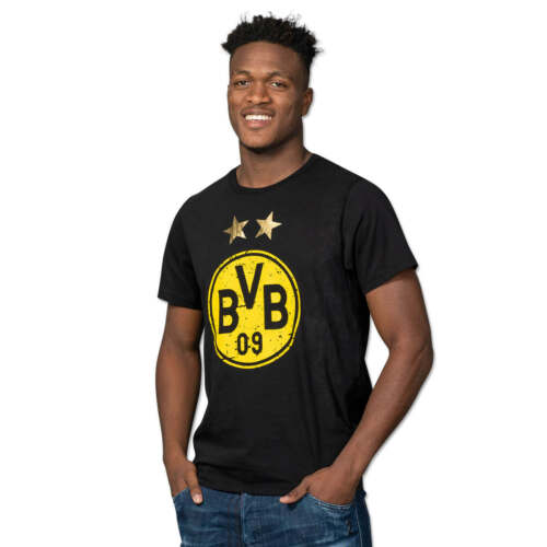 [NEU] BVB-T-Shirt mit Logo Schwarz Borussia Dortmund