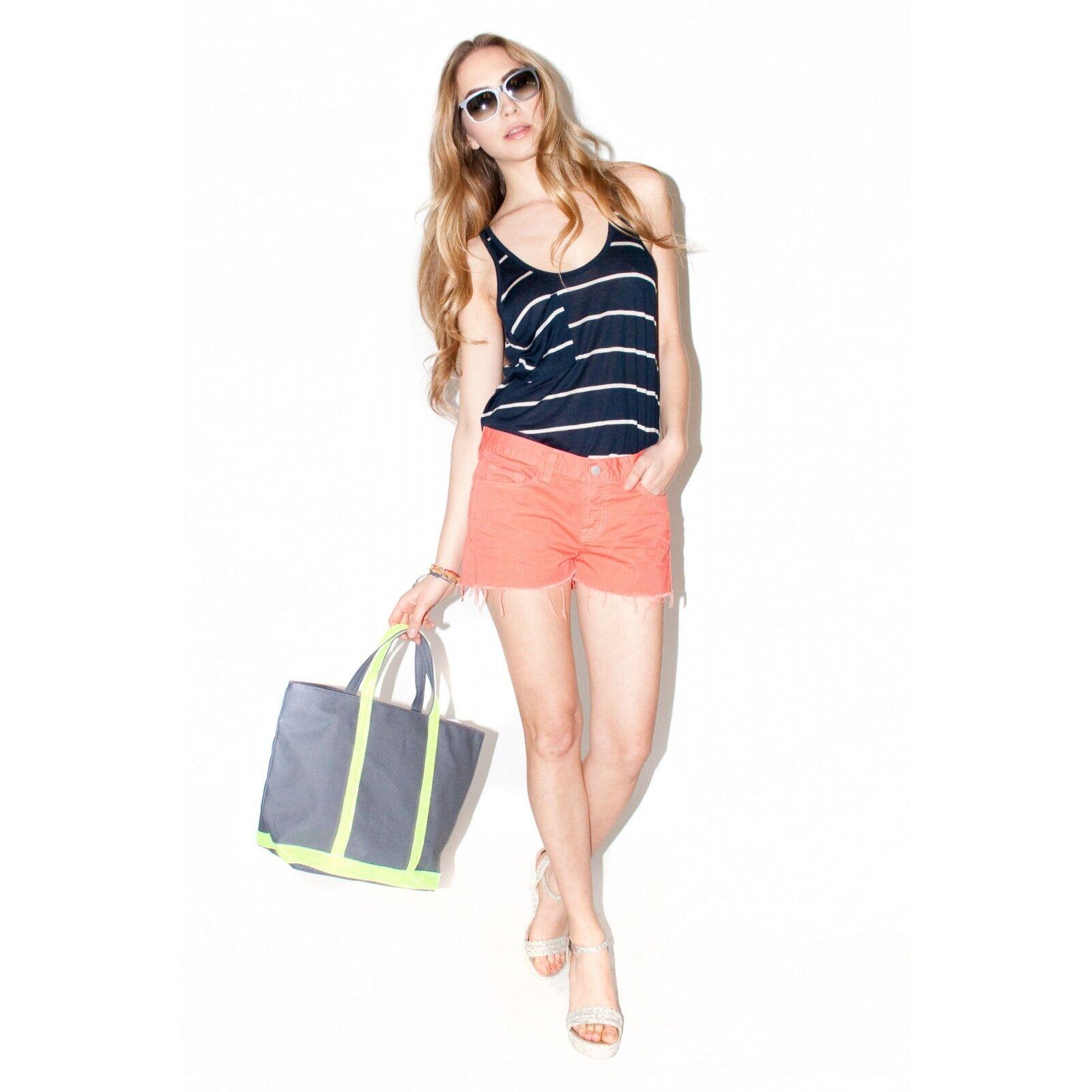 J Brand Coral Cut Off Denim Short Shorts 25 26 27 NWT 1046O250