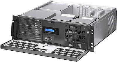 "ATX//ITX 3U NEW Fan LCD Rackmount Chassis 3x5.25/""+7xHDDs Bay D:14.96/"" Case"