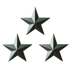 Set of 6. Country Rustic Antique Vintage Gifts Grungy Desert Sage Metal Barn Star Wall//Door Decor 5-1//2 Inch CVHOMEDECO