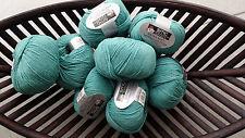 600g wolle Cotton Merino Select Gedifra Schachenmayr Türkis Blau WOLLE NATUR