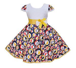 Cinda-para-Ninas-Color-Blanco-y-Circular-Vestido-de-Fiesta-en-4-5-6-7-8-Anos