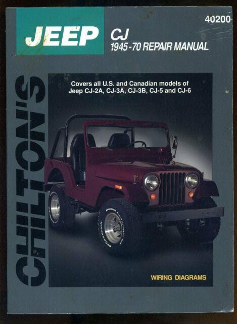 Chilton U0026 39 S Repair Manual Jeep Cj 1945