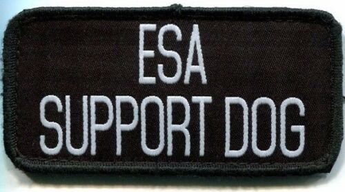 Emotional Support Dog Sew On Patch ESA Emotional Therapy Companion Velcray Back