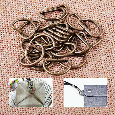 25pcs 20mm Metal D Ring Jump Connector Strapping Webbing Purse Bag Crafts Buckle