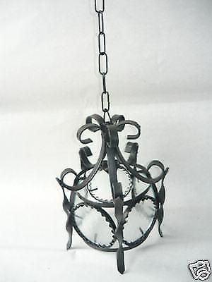 shopping online di moda Lanterna lampada con 6 vetri tonda in in in ferro battuto diam.26 cm  profitto zero