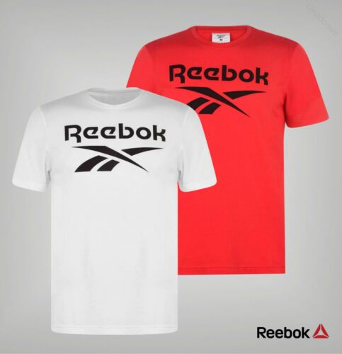 Mens Reebok Crew Neck Short Sleeved Top Vector Logo T Shirt Sizes from S to XXL