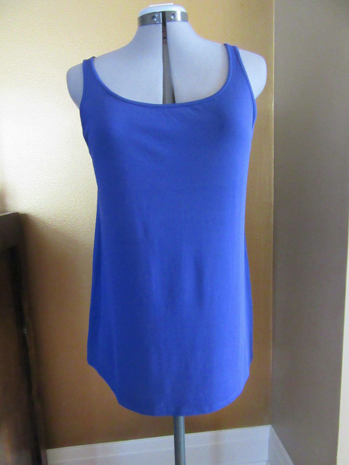 NWT Eileen Fisher Silk Jersey Scoop Neck in Saphire Größe Petite Medium