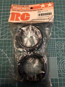 Tamiya Racing 2pc Tyre Set 50419 Original 52mm26mm TL01 TGS TT01 TA01 TA02 FF01
