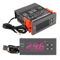 220V-Digital-LCD Temp Temperaturregler Schalter Thermostat w / Sensor