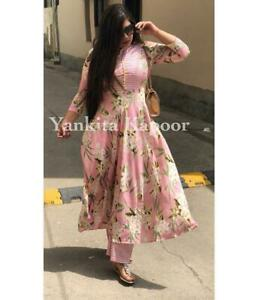 Kurti-Bottom-Wedding-Apparel-Shalwar-Kameej-India-Pakistani-Floral-Print-Apparel