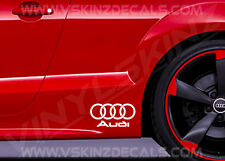 LOGO Audi 1S Premium Cast Gonna Decalcomanie Adesivi TT RS S-LINE A3 A4 A5 Quattro