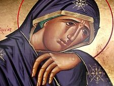 BETRÜBTE Maria Muttergottes Ikone Madonna Icone Icon Ikona Icoon Icono orthodox