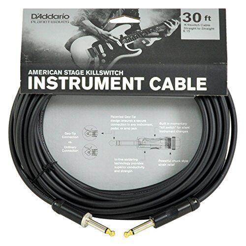 D 'Addario American etapa Interruptor, 30 pies de cable de de de instrumento 4b8757