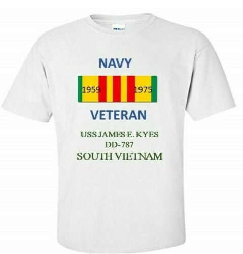 USS JENKINS  DD-447 *SOUTH VIETNAM*VIETNAM VETERAN RIBBON 1959-1975 SHIRT
