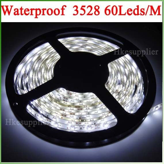 12V 24W 300LEDs/5M 3528 Cool White IP65 Waterproof Strips Lighting Flexibility