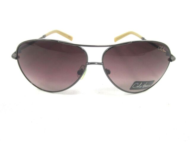 c45ad6f62ba3 COLE HAAN C608 AVIATOR SUNGLASSES,ANTIQUE FRAME/BROWN GRADIENT LENS,ONE SIZE