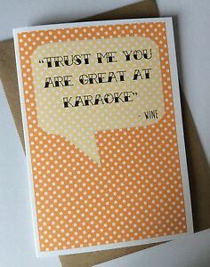 Image Is Loading Handmade Personalised Funny Birthday Card Trust Me Karaoke