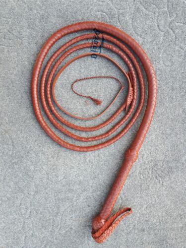 long 12 Tressé Authentique Kangaroo Cuir Heavy Duty Fouet libre p/&p UK 10 Ft environ 3.05 m