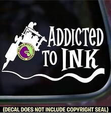 ADDICTED TATTOO Machine Ink Shop Car Window Laptop Wall Sign Vinyl Decal Sticker