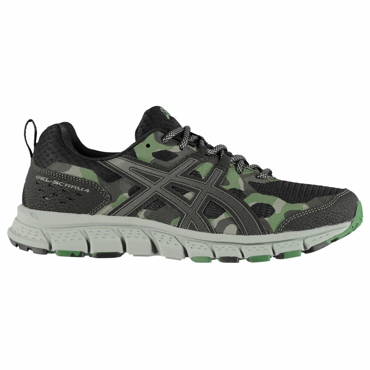 Asics Gel Scram 4 Trail Running shoes Mens Gents Laces Fastened