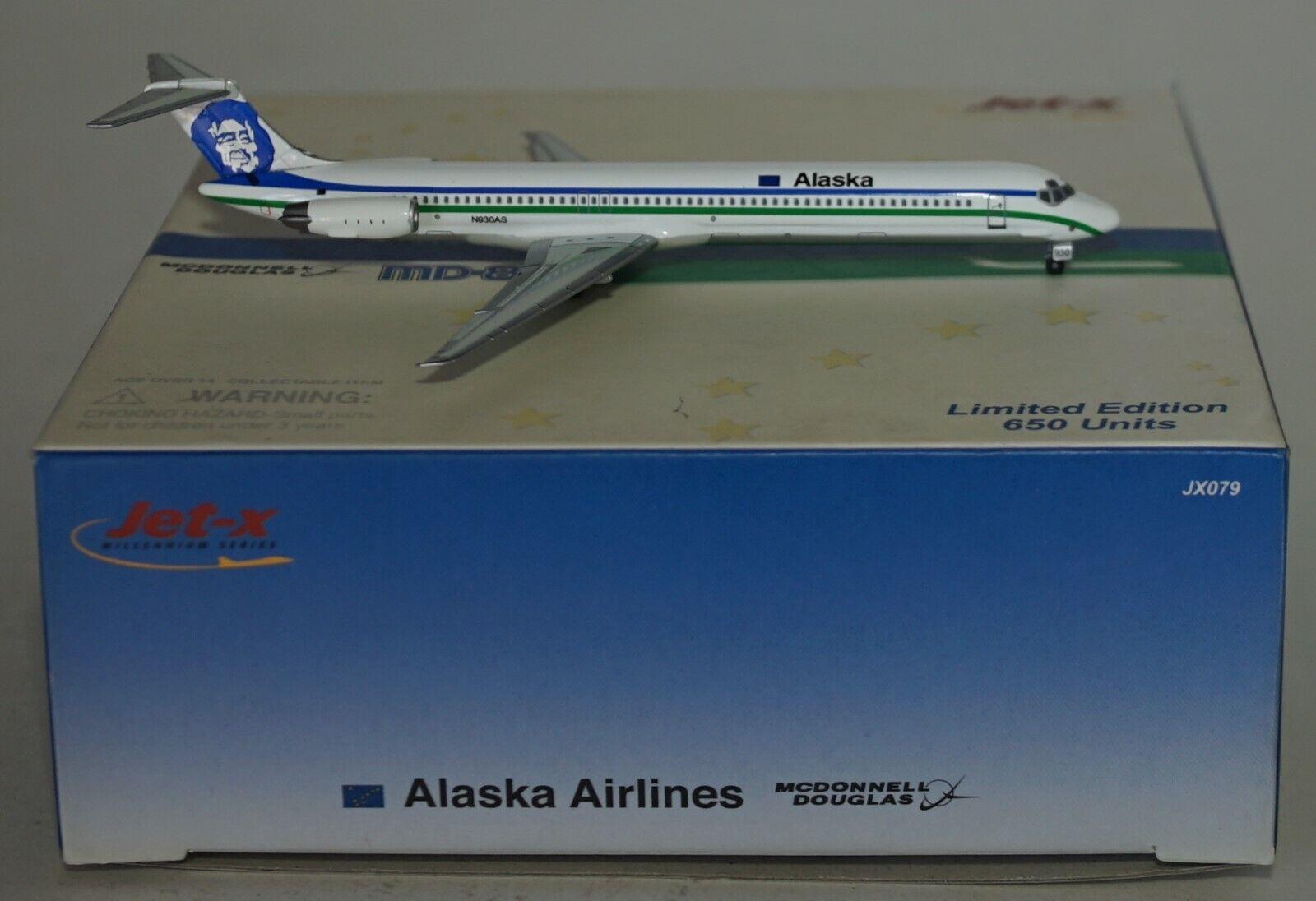 Jet-X JX079 Mcdonnell Douglas MD-83 Alaska Airlines N930AS in 1 400 Maßstab