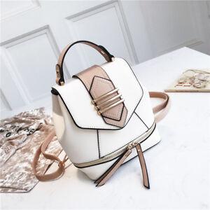 Convertible-Faux-Leather-Small-Mini-Backpack-Rucksack-Shoulder-bag-Purse-Satchel