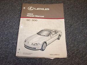 1992 lexus sc300 coupe workshop shop service repair manual book vol2 rh ebay com 1992 Lexus GS300 1992 lexus sc300 owners manual