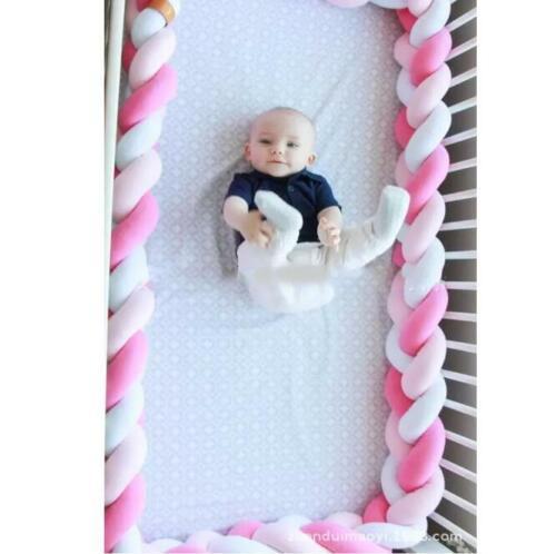 4M Länge Baby Nestchen Kopfschutz Knotenkissen Bettschlange Farbe Babynestchen