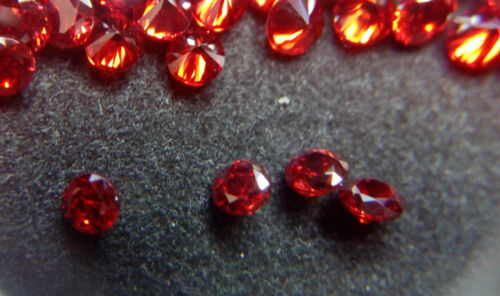 1,5 mm rosso Garnet zirconi ROUND Cut LOOSE Gemstone AAAAA lotto di 100 pietre