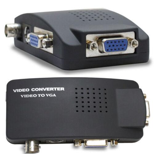 CCTV Camera DVR BNC S-VIDEO TO PC Computer VGA Monitor Converter Adapter Box