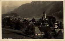 Brienz Kanton Bern Schweiz alte  Postkarte ~1920/30 Panorama mit See und Gebirge
